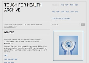 Touch for Health Journal Archiv
