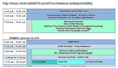 IKC Conference Schedule 2015