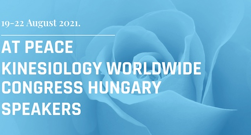 AT PEACE Kinesiology Worldwide Congress 2021 19. 22.8.21